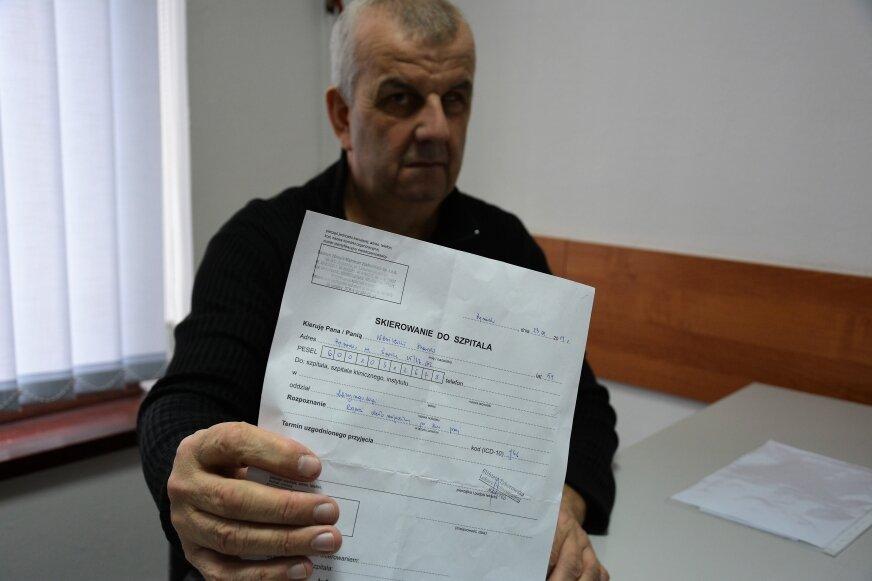 Stanisław Wasilewski trafił do szpitala w bardzo złym stanie z ropniem okołomigdałkowym. Nie doczekał się pomocy. Ropień pękł w drodze do domu.