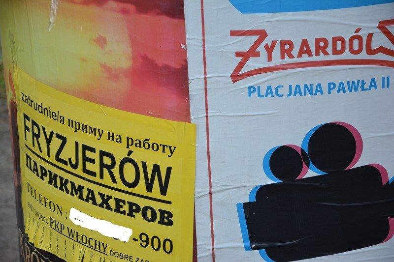 Warszawski pracodawca poszukuje pracowników ze Wschodu na ulicach Żyrardowa.