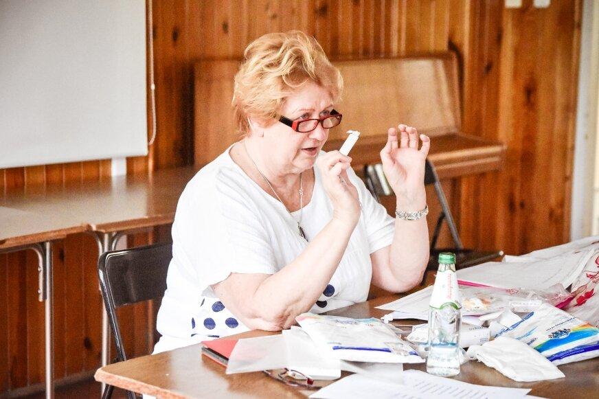 Jolanta Nakończy, prowadząca zajęcia szkoły rodzenia.