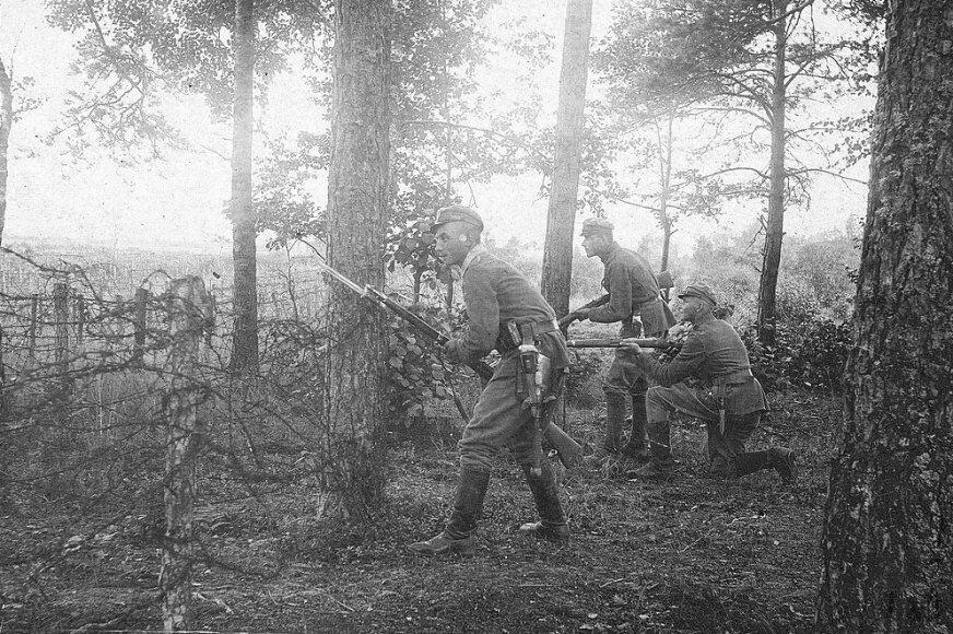 Patrol batalionu I pułku piechoty Legionów Polskich
