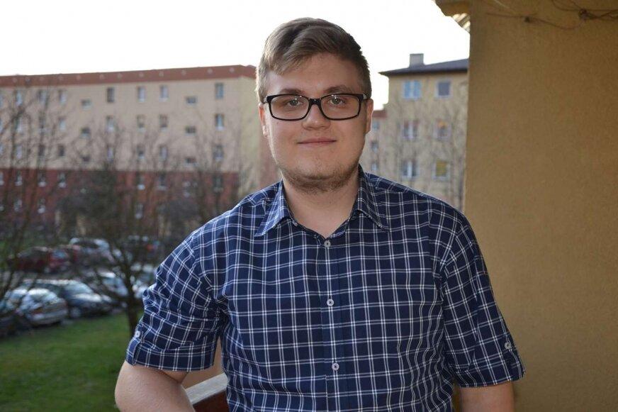Kacper Głąbiński ma powody do dumy.