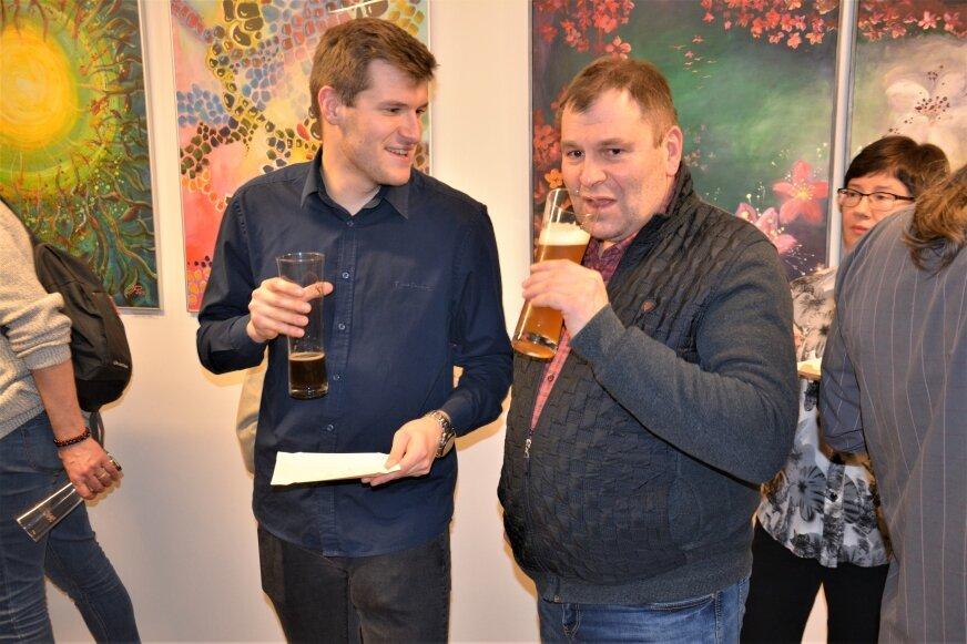 To nie przypadek, że na wystawie malarstwa było dużo piwa