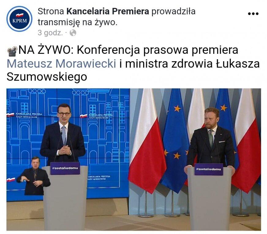 Konferencja premiera Mateusza Morawieckiego i ministra zdrowia Łukasza Szumowskiego