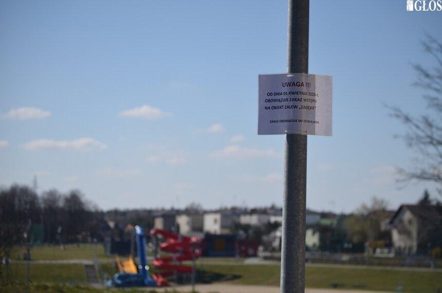 Od dziś (1.04) obowiązuje zakaz wstępu na teren zalewu Zadębie.