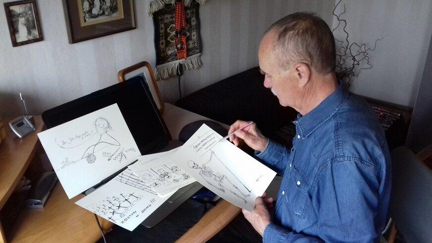 Zbigniew Matysek przyznaje, że czas obowiązującej kwarantanny sprzyja pracy. (fot. arch. domowe).