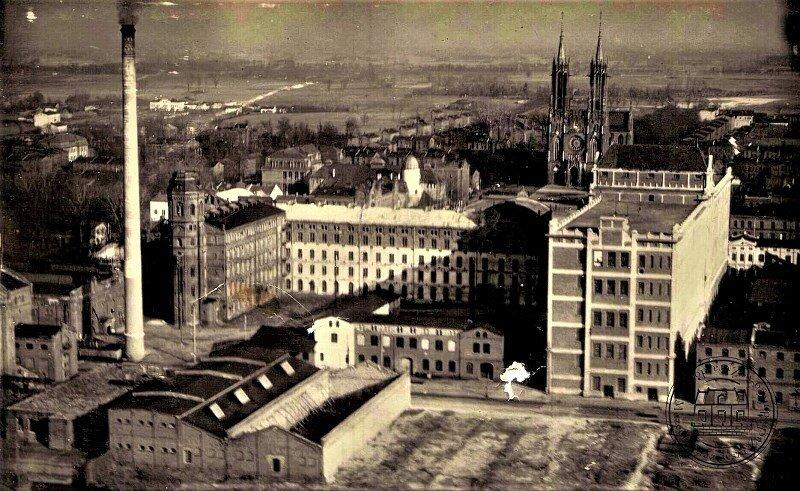 Zakłady Żyrardowskie i Żyrardów w okresie rządów francuskiego króla bawełny w naszym mieście. Zdjęcie z ok. 1930 roku.