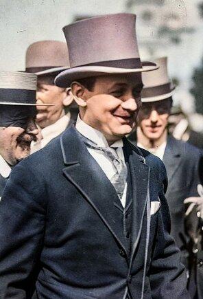 Marcel Boussac w wieku 32 lat podczas wyścigów konnych w Chantilly, 22 czerwca 1922 rok.
