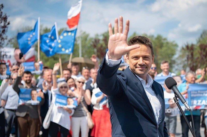 Rafał Trzaskowski w Międzyborowie kończy obecną kampanię wyborczą