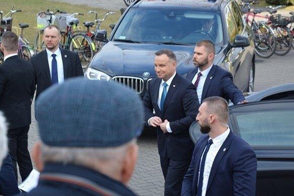 Andrzej Duda podczas wizyty w Żyrardowie