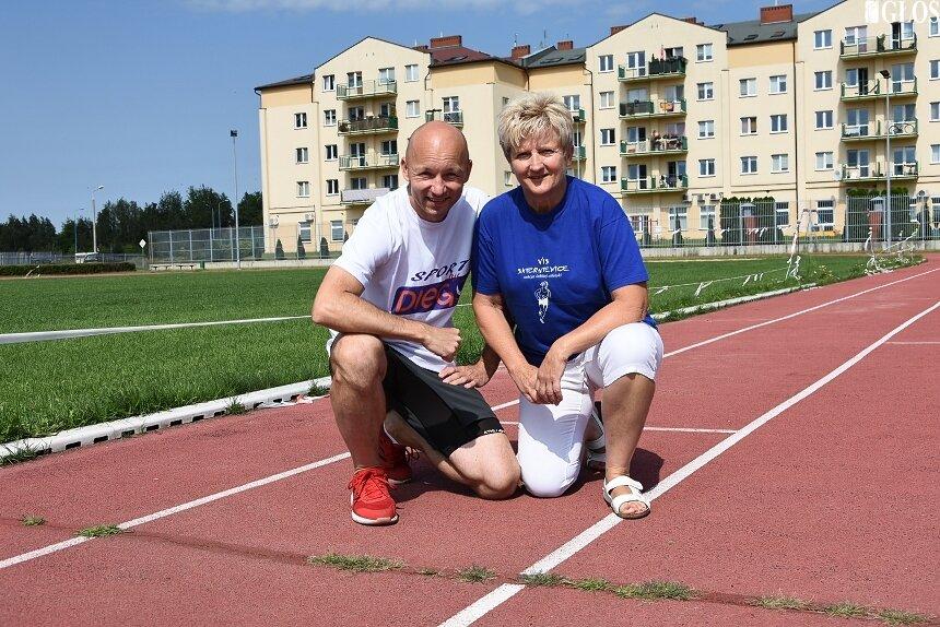 Jolanta Barska ze swoim podopiecznym Krzysztofem Garbiczem.