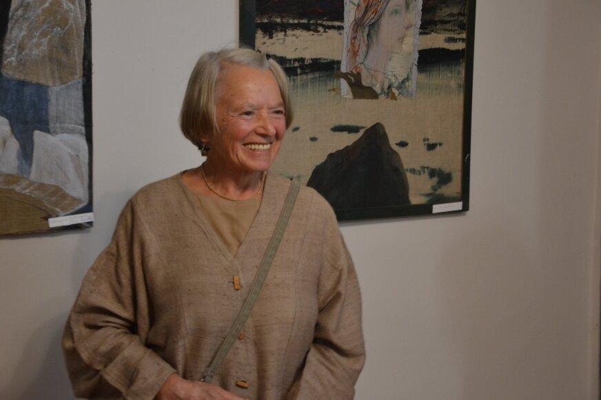Barbara Guzik-Olszyńska podczas sobotniej wystawy.