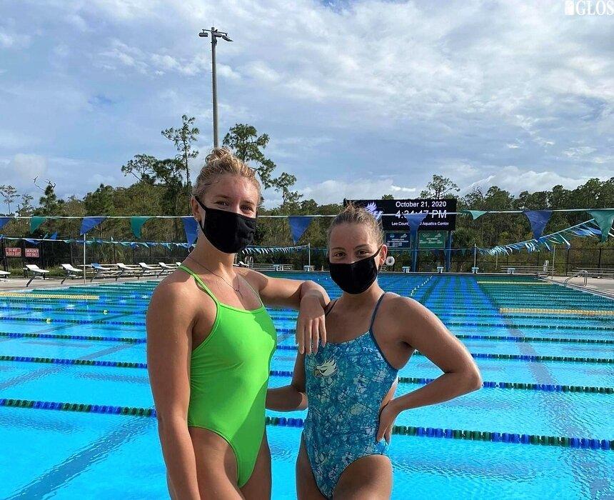 Alicja Ulicka (z prawej) od sierpnia przebywa na stypendium sportowym w Stanach Zjednoczonych.