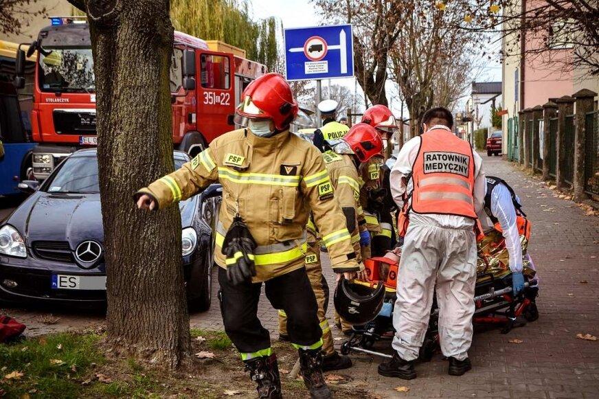 Potrącony motorowerzysta na ulicy Batorego