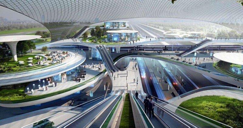 Wizja lotniska w Baranowie.