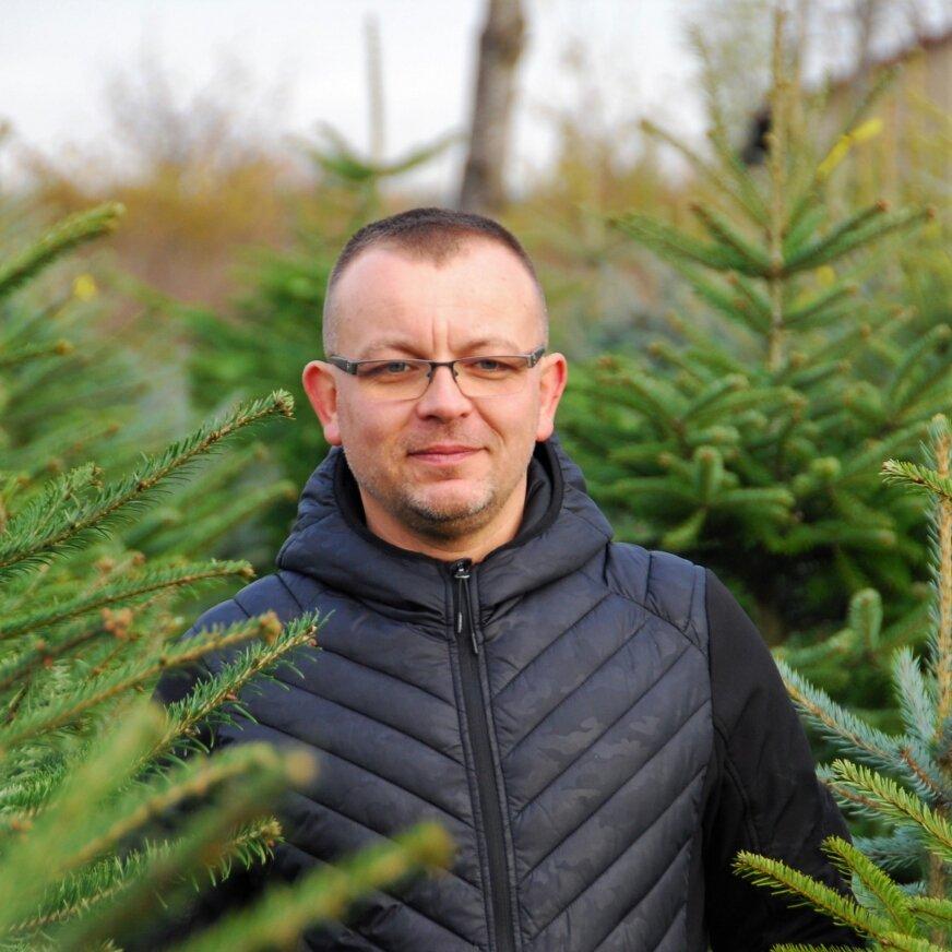 Przemysław Zientek zaprasza do swojej plantacji choinek.