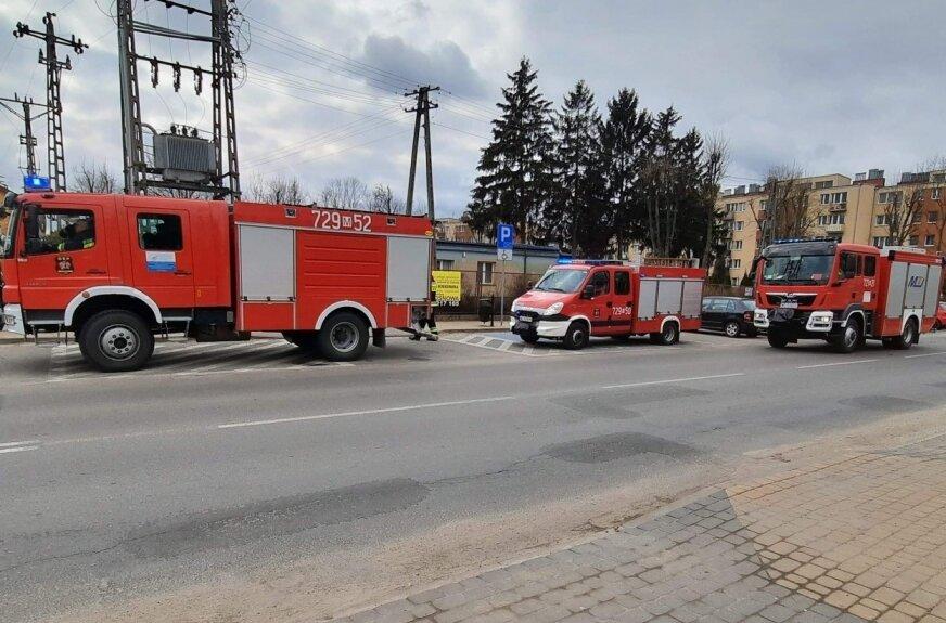 Strażacy bardzo szybko byli na miejscu.