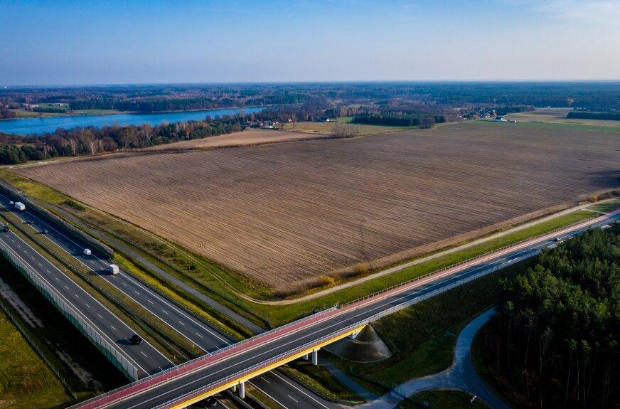 Biometanownia miałaby powstać tuż przy skrzyżowaniu drogi wojewódzkiej 705 z autostradą A2.