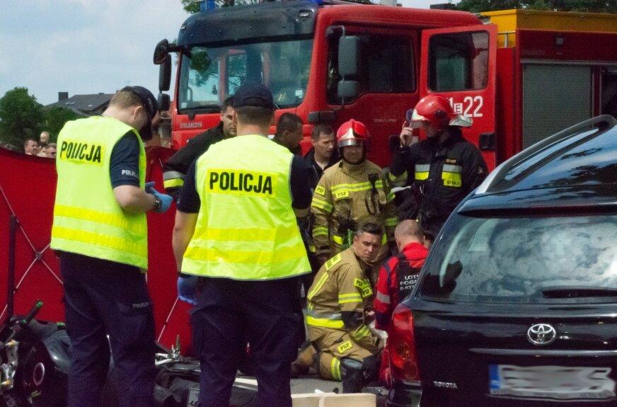 Wypadek motocyklisty w Skierniewicach (film)