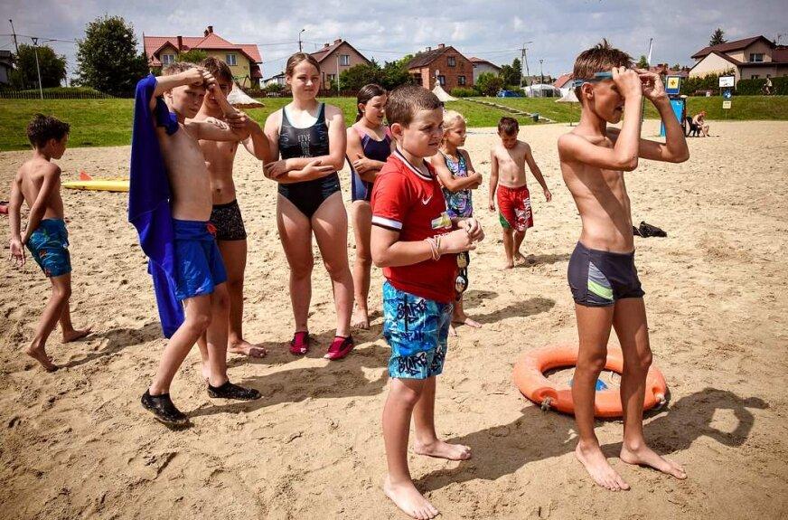 Chrzest młodych ratowników w Skierniewicach