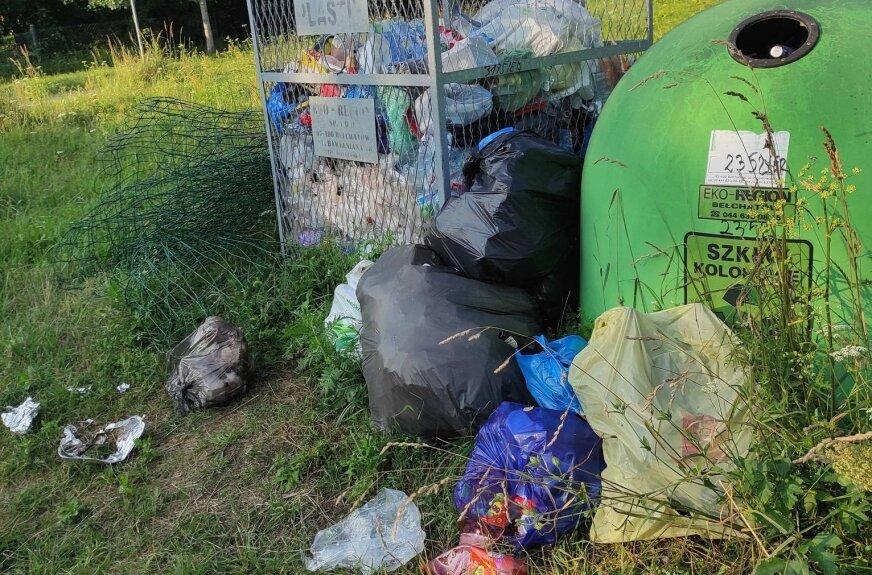 Budy Grabskie: śmieci wylewają się z pojemników