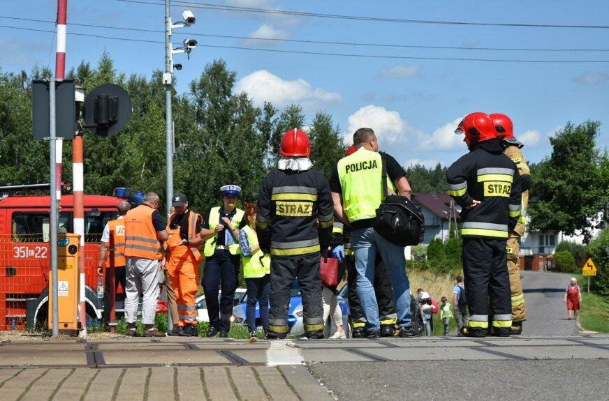 Śmiertelne potrącenie na torach w Dąbrowicach