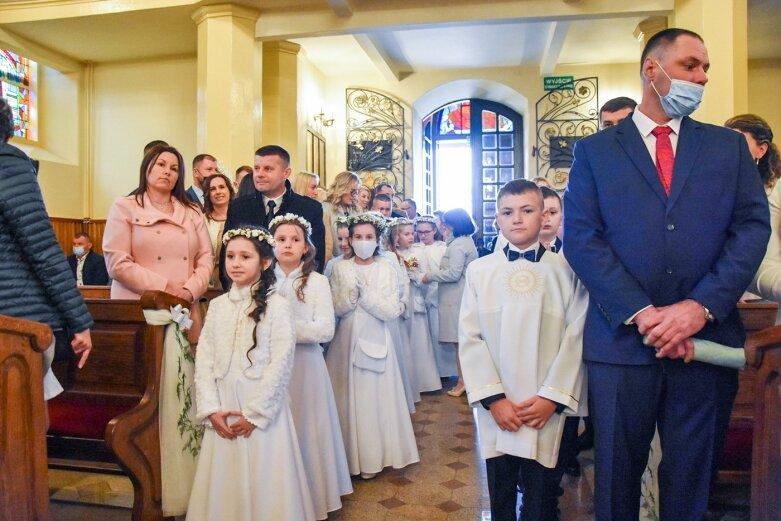 Przystąpili do pierwszej Komunii Świętej w Lipcach Reymontowskich