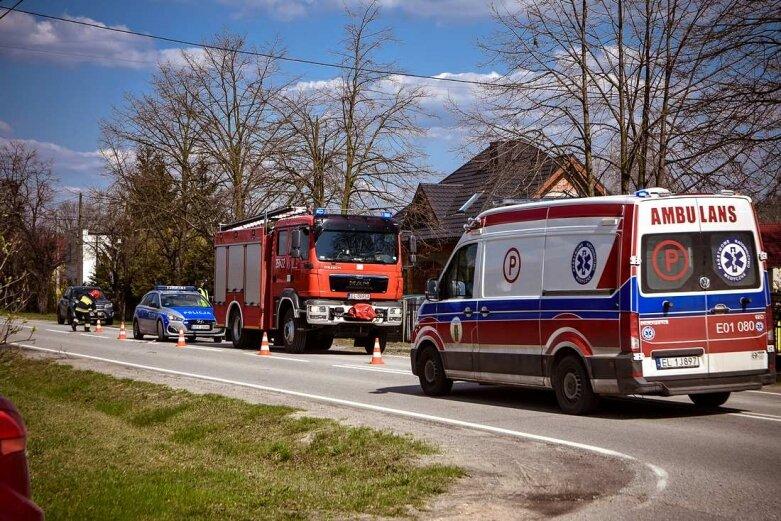 Wypadek na ulicy Łódzkiej w Skierniewicach